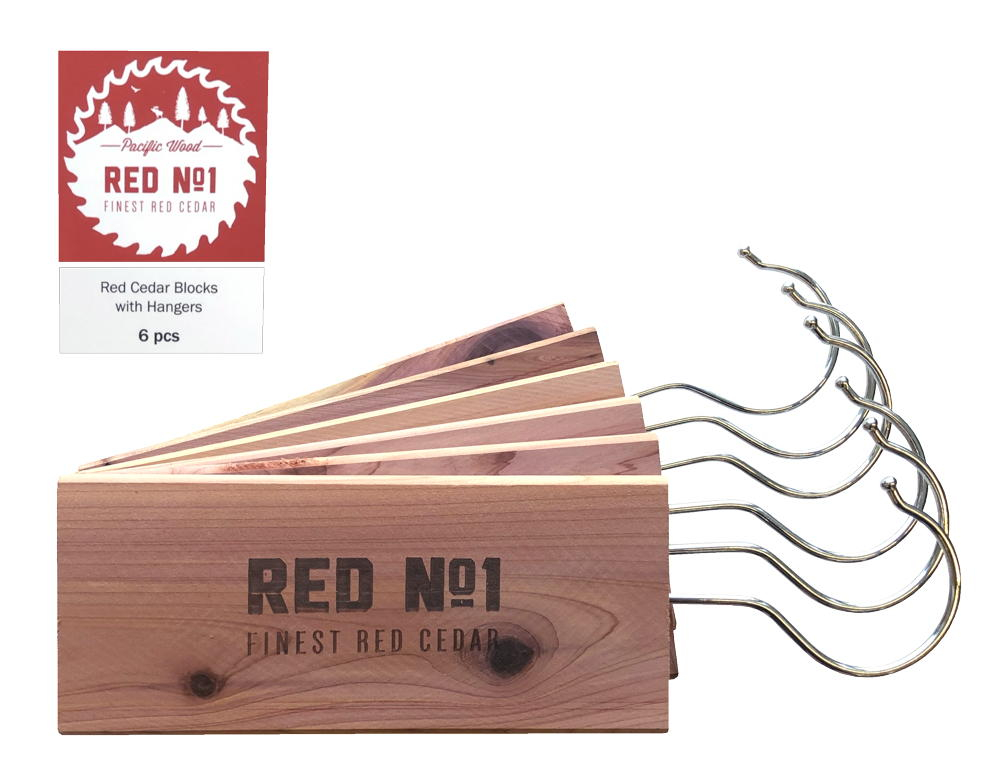 Rödceder hängare 6-pack