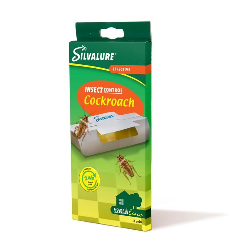 Silvalure kackerlacksfälla 3-pack