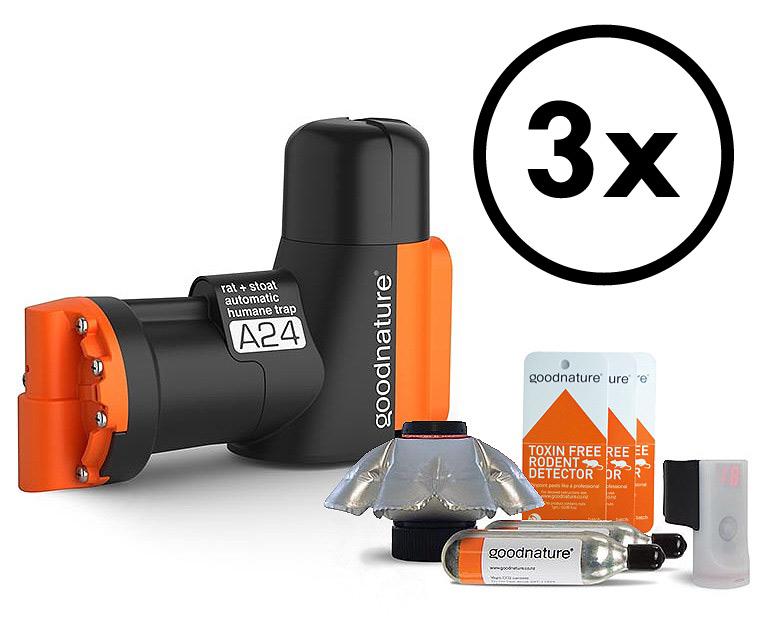 3-pack Goodnature® A24 kolsyrefälla