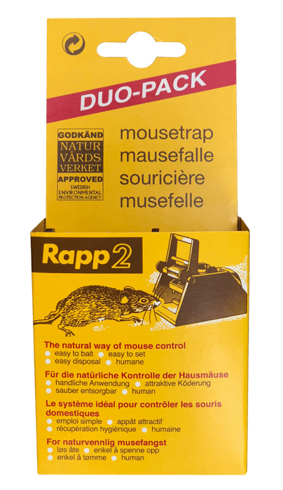 RAPP2® musfälla 2-pack