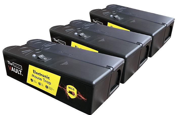 3-pack TheVault® elektrisk musfälla
